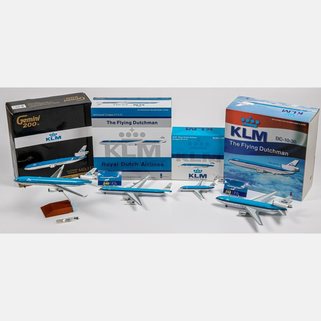 Four KLM Diecast Airplanes