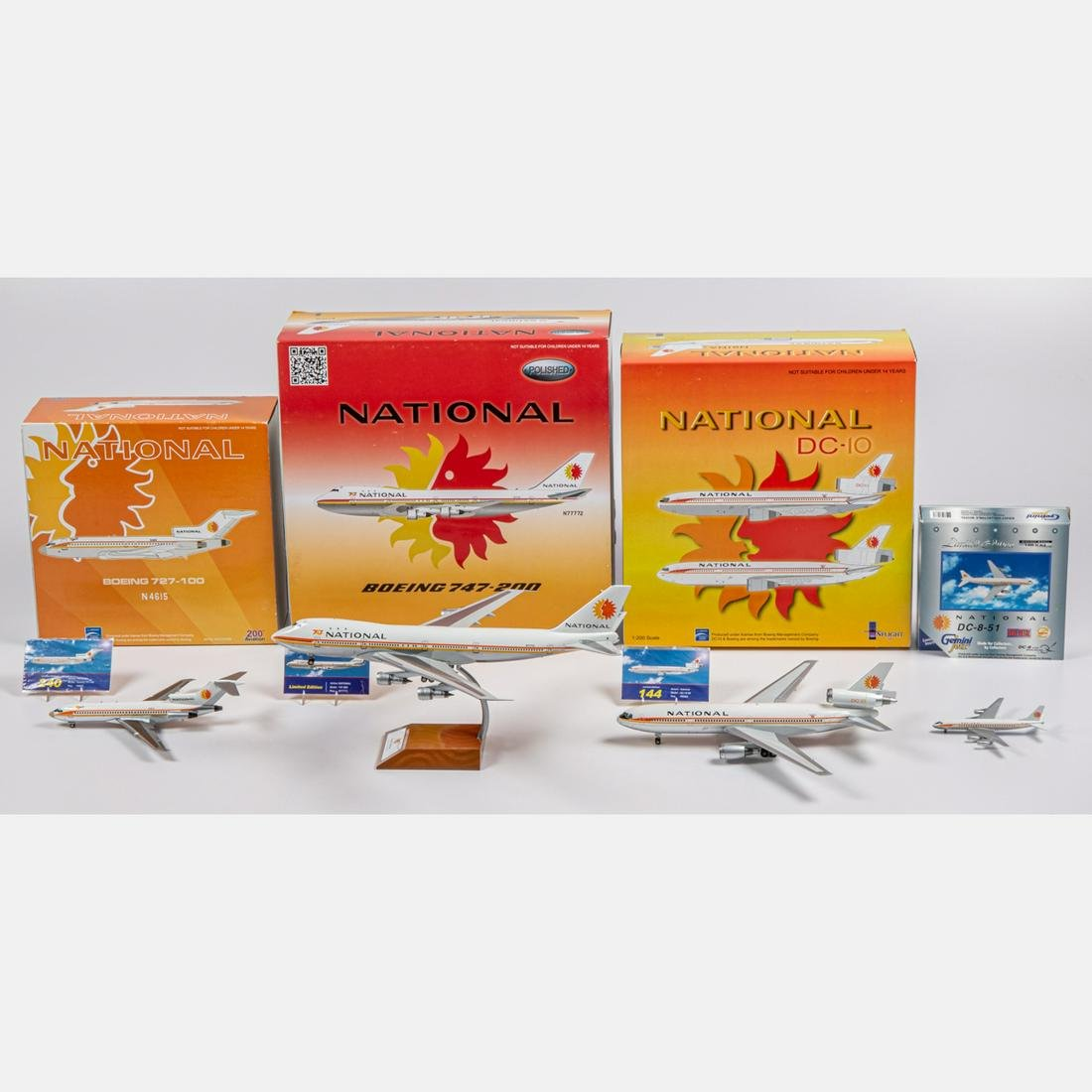 Four National Diecast Airplanes