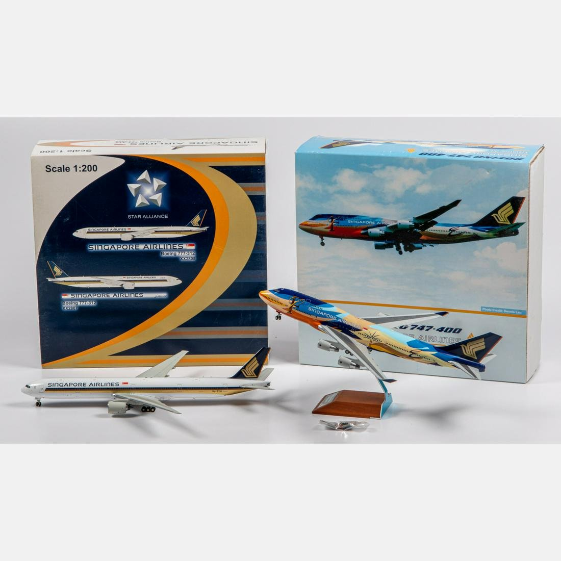 Two Singapore Diecast Airplanes