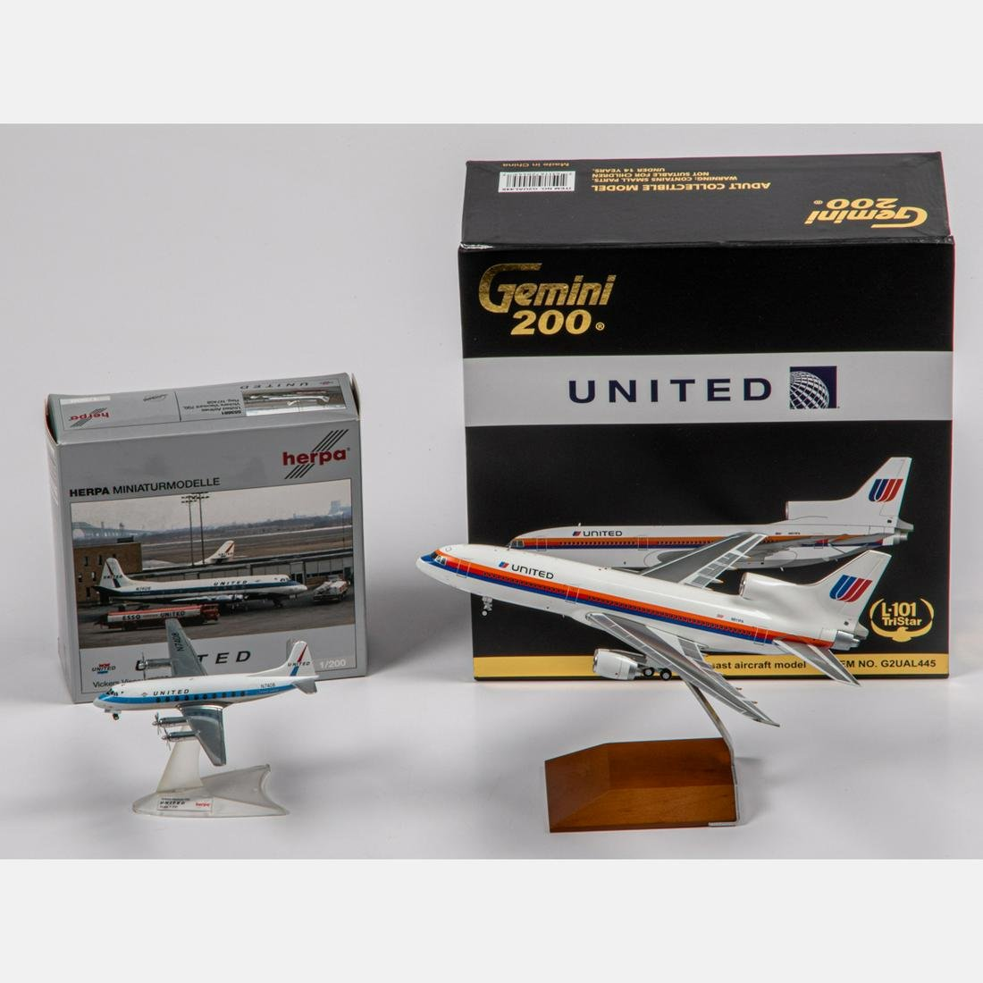 Two United Diecast Airplanes