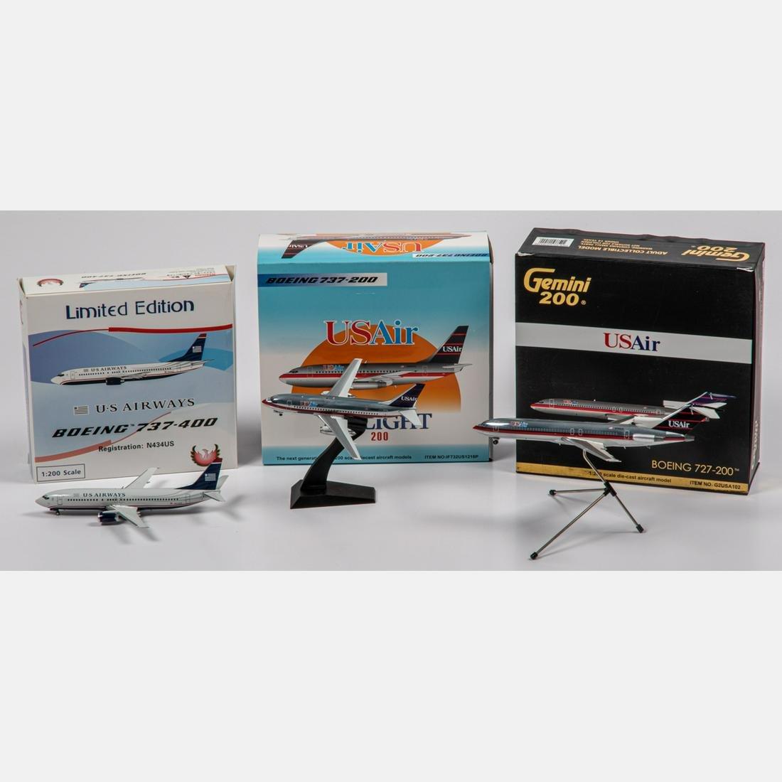 Three US Air Diecast Airplanes