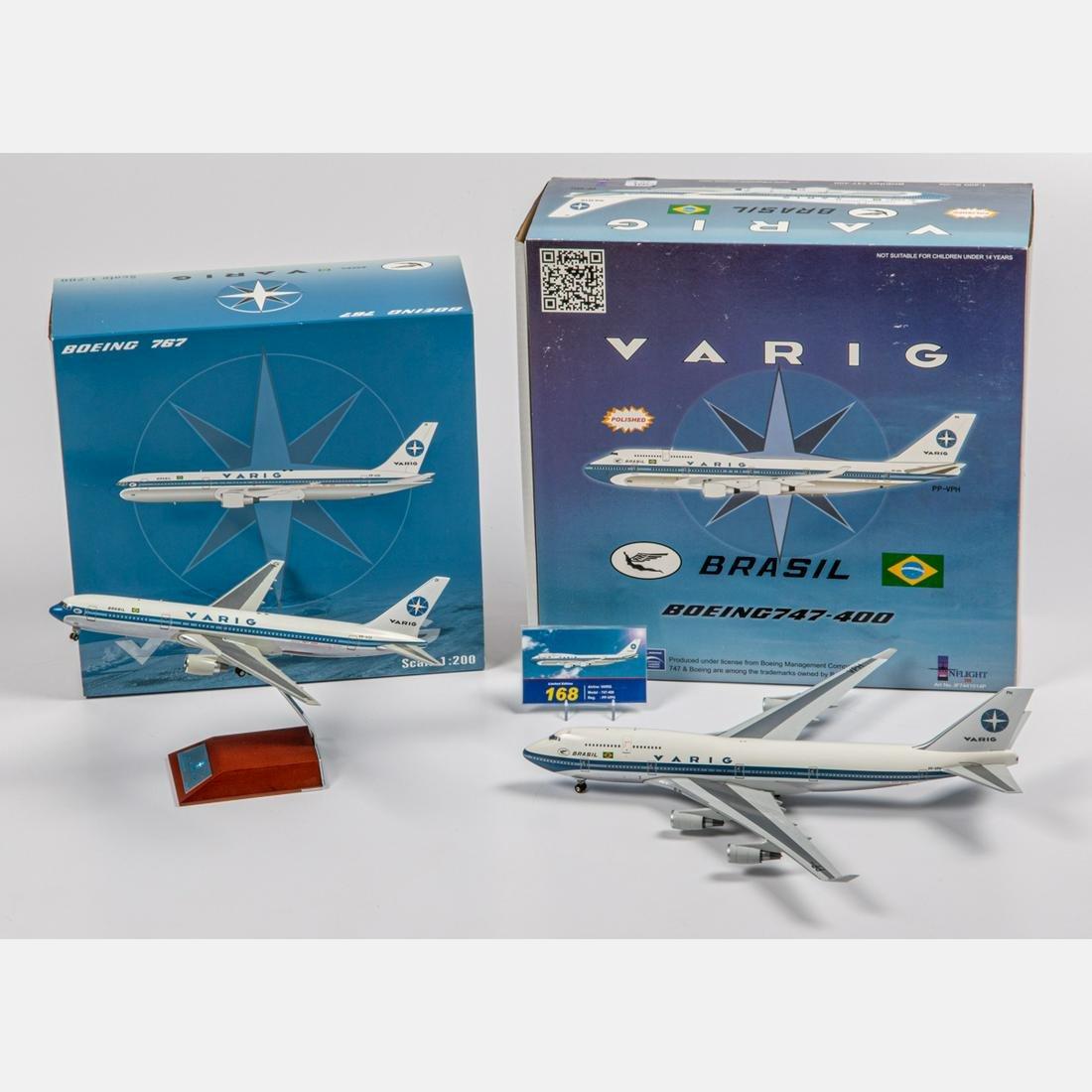 Two Varig Diecast Airplanes