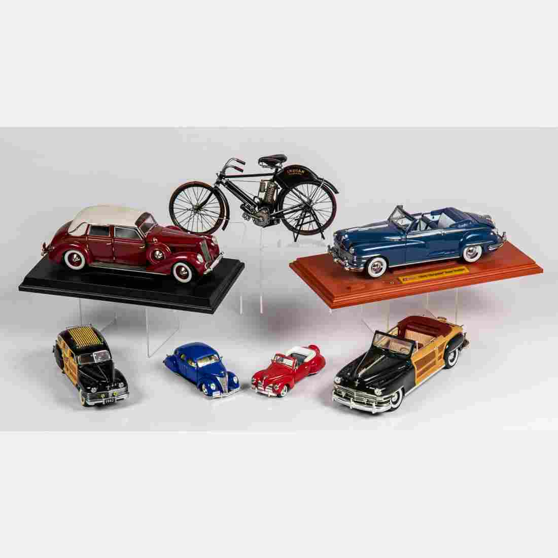 Six Various Scale Model Cars