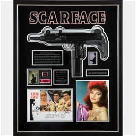A Scarface Movie Uzi Prop in Shadow Box Frame
