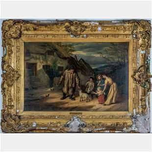 Walter Charles Horsley 18551921 The Village Pet Oil