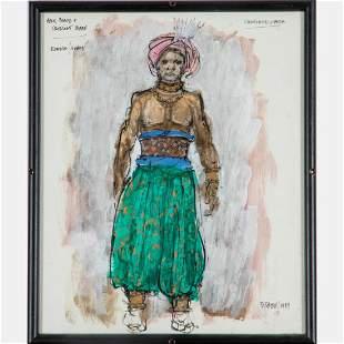 Artist Unknown 20th Century EunuchGuard Acrylic and