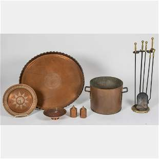 A Miscellaneous Collection of Copper Decorative Items