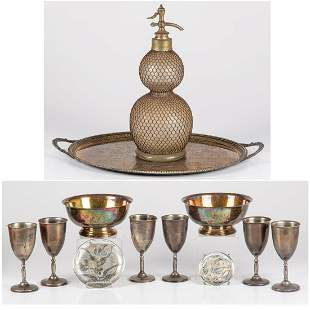A Miscellaneous Collection of Silver Plated Serving