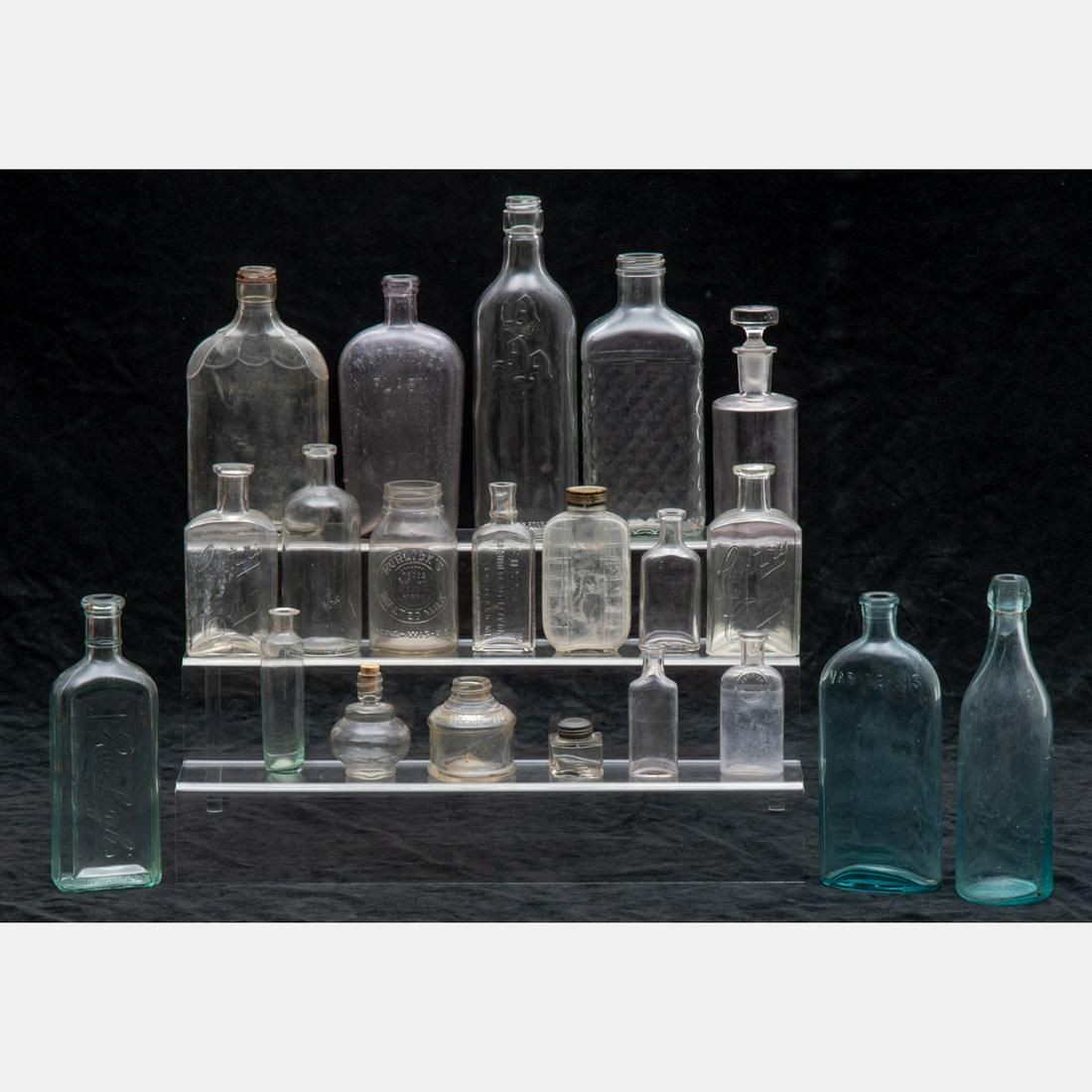 A Miscellaneous Collection of Antiques Clear Glass
