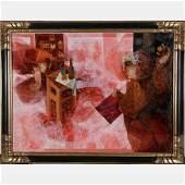 Alvar Sunol Munoz-Ramos (b. 1935) El Pintor con Su