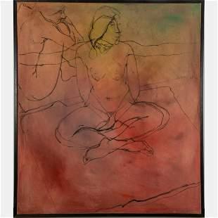 Tony Woods 19402017 Seated Nude Oil on canvas