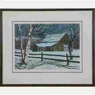 Artist Unknown 20th Century Starry Night Lithograph