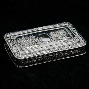 A Hanau Silver Snuff Box 19th Century
