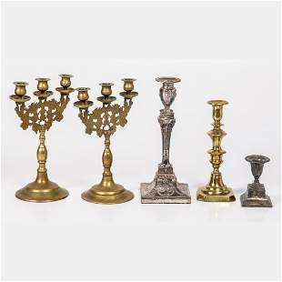 A Miscellaneous Collection of Brass and Silver Plated