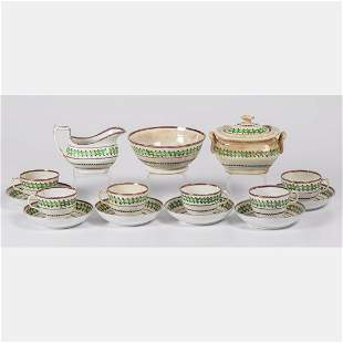 A Partial Set of Lustreware Cups Saucers Bowl and