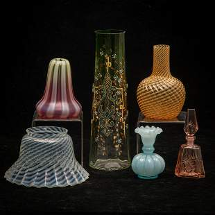 A Miscellaneous Collection of Victorian Colored Glass