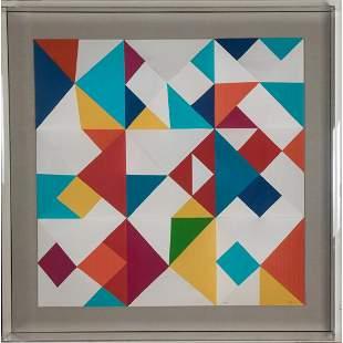 Yaacov Agam (Israel, b. 1928) Color Nines, 1985
