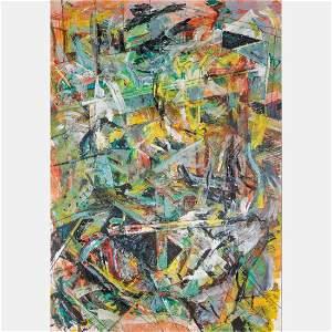 Reuven Zahavi (b. 1957) L'Acces Au Grenier, Oil on