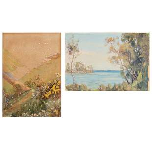 Two Landscapes by Ashley Cooper and A Wilkinson