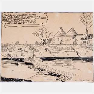 Harry LeRoy Taskey 18921958 WWI Illustration
