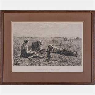 Lionel Le Couteux 1847 1909 Etching from Le Gouter