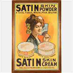 Satin Skin Powder and Cream Lithograph Poster
