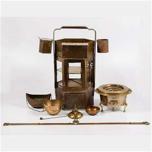 Collection of Brass and Copper Serving and Decorative