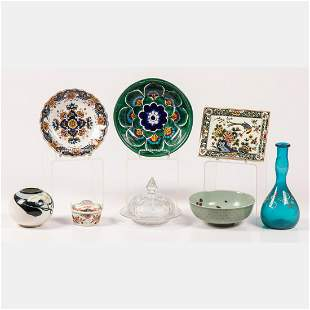 Collection of Porcelain and Glass Serving and