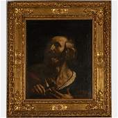 Neapolitan School,  Saint Peter,  Oil on Canvas, First