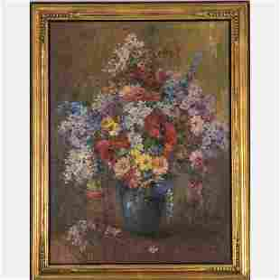 Artist Unknown (20th Century) Floral Still Life, Oil on