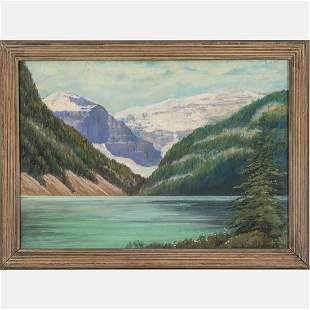 Edwin C. Siegfried  (American, 1889-1955) Lake Louise,