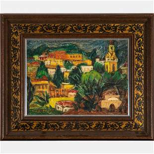 Isaac Amitai (Israeli, 1908-1984) Jerusalem,  Oil on