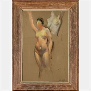 Myron Nutting (American, 1890-1972) Nude Study, Pastel