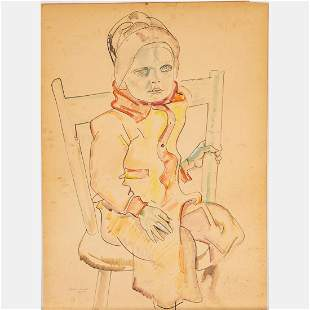 William Sommer (American, 1867-1949) Seated Child,