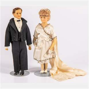Two Continental Wax Figures, ca.1900