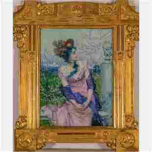 Francesco Vinea (Italian, 1845-1902) Seated Woman in a