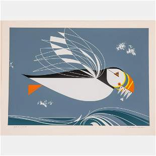 Charles Harper (American, 1922-2007) Puffin, Serigraph