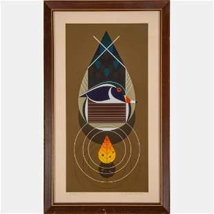 Charles Harper (American, 1922-2007) Wood Ducks,
