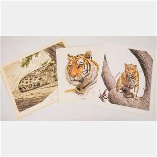 A Group of Three Lithographs by Guy Coeleach (American,
