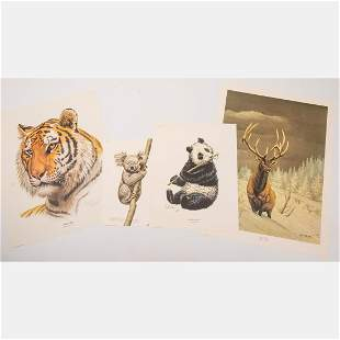 A Group of Four Lithographs by Guy Coeleach (American,
