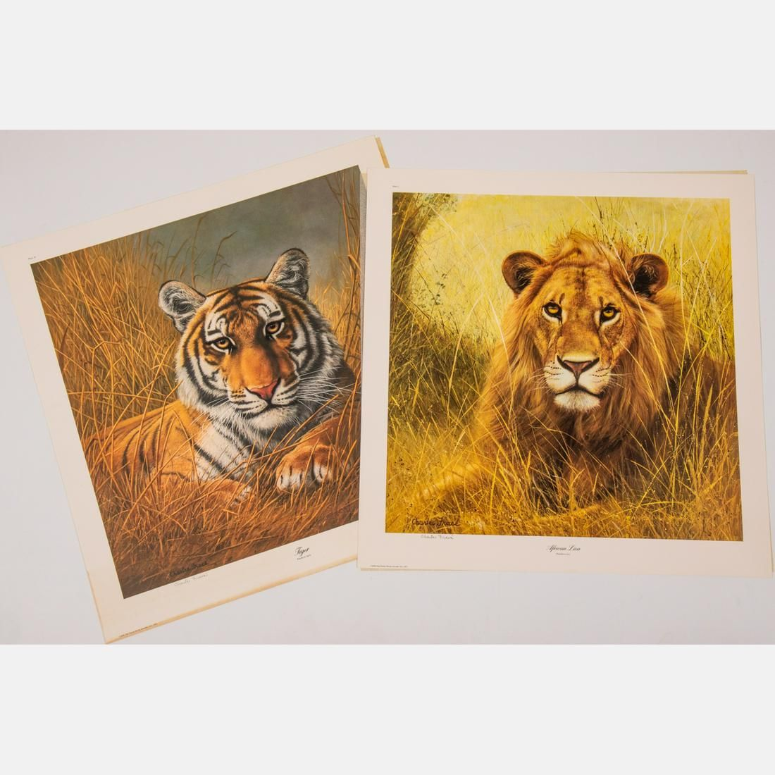 Two Lithographs by Charles Frace (American, 1926-2005),