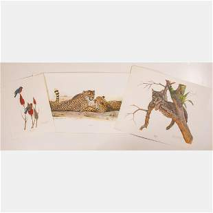 Two Lithographs by Richard Younger (American,