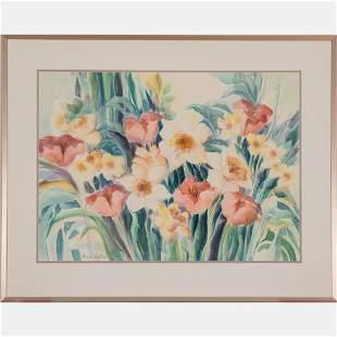 Marcia Hartman (American, 20th/21st Century) Flowers,