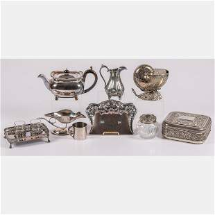 A Miscellaneous Collection of English Silver Plated