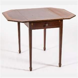 A Georgian Style Mahogany Pembroke Table, 20th Century.