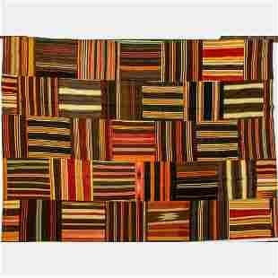 A Turkish Village Kilim Patchwork Wool Rug, 21st