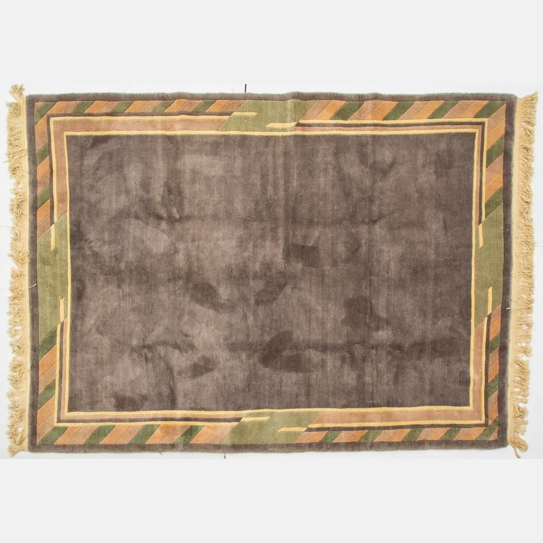 An Indo Tibetan Persian Gabbeh Wool Rug, 21st Century.