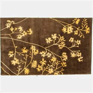A Sino Persian Tabriz Silk and Wool Rug, 20th Century.