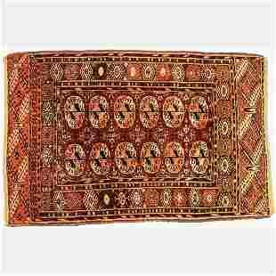 An Antique Persian Turkoman Wool Rug, ca. 1920's.