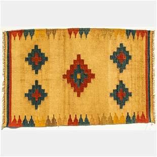 A Persian Kurdish Kilim Wool Rug, 20th Century.